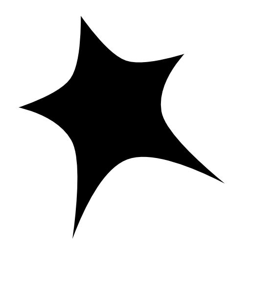 Black Star White Outline Clip Art at Clkercom  vector