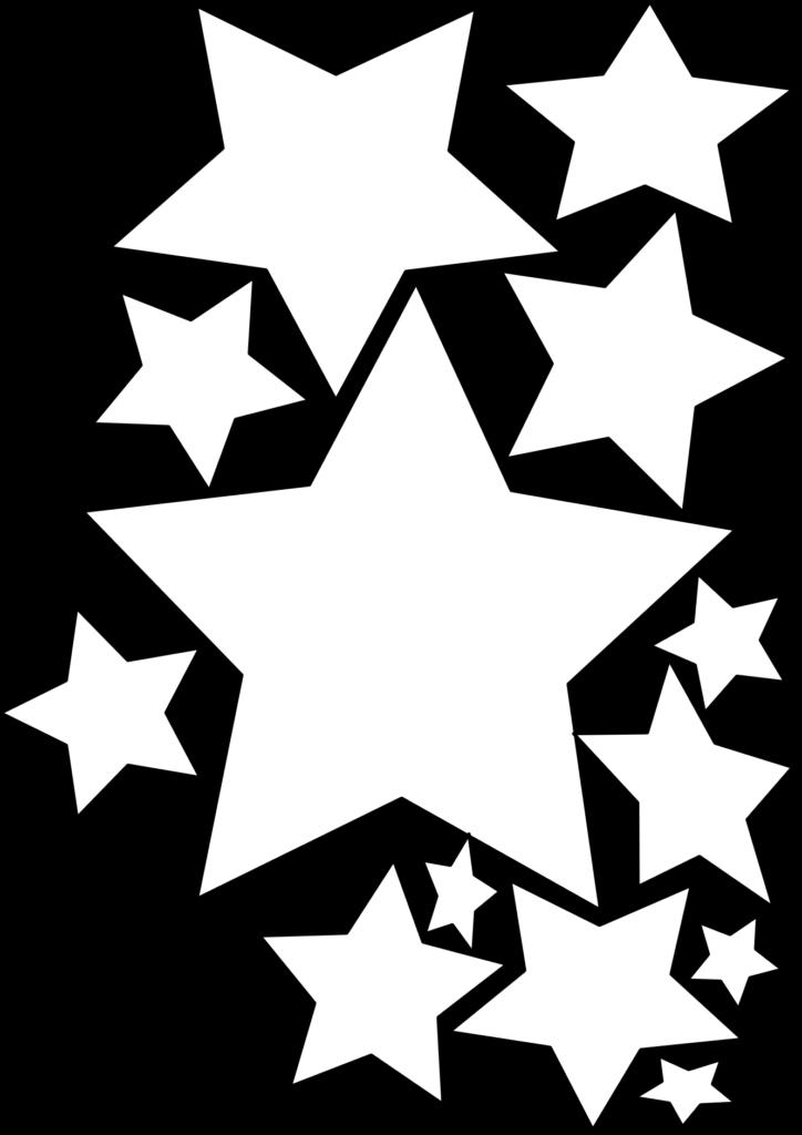 Christmas Star Clip Art Black And White  Clipart Panda