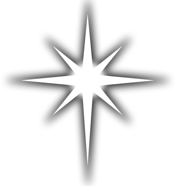 Christmas Star Line Black And White Clipart  Christmas