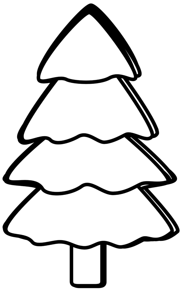 Best Christmas Tree Clipart Black And White 14641