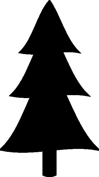 Black Christmas Tree Clip Art at Clkercom  vector clip
