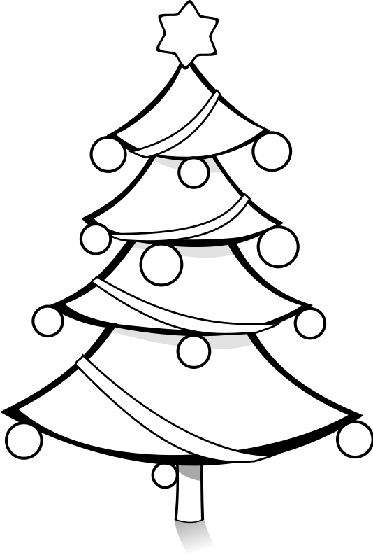 Black And White Christmas Tree  ClipArt Best