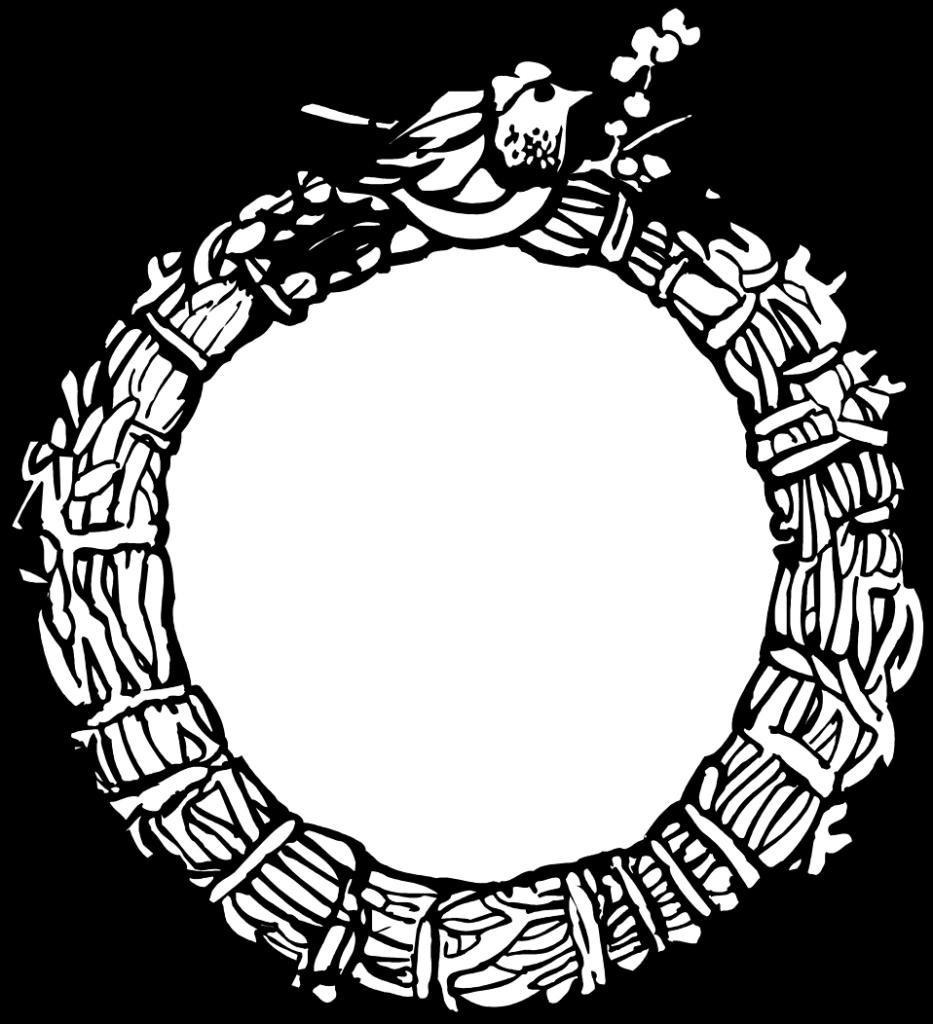 Wreath  Free Stock Photo  Illustration of a blank