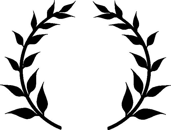 Black Wreath Clip Art at Clkercom  vector clip art