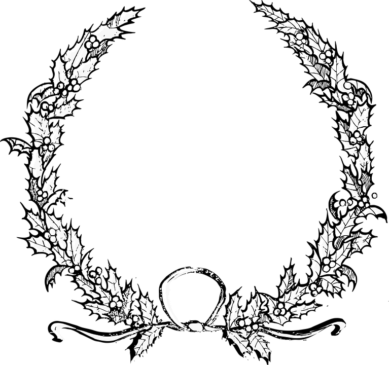 View 36 Christmas Wreath Svg Free Black And White