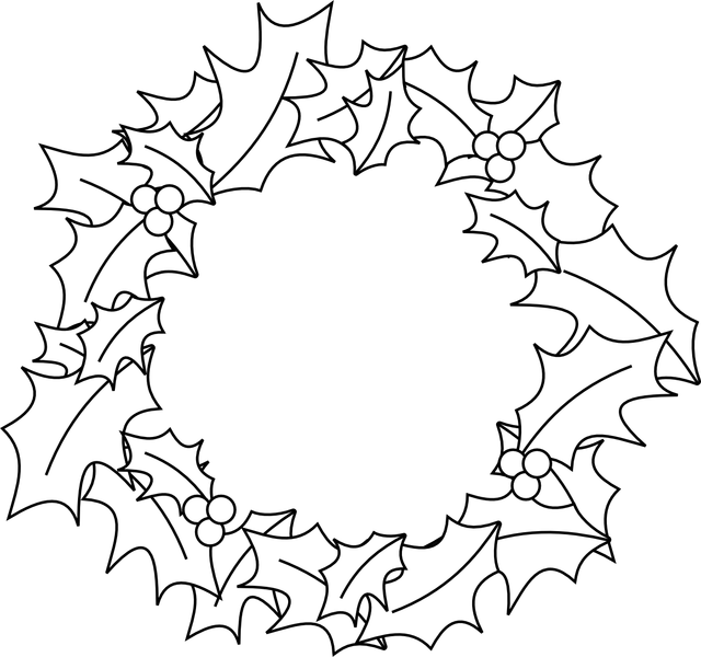 Wreath Clipart Black And White  Free download on ClipArtMag