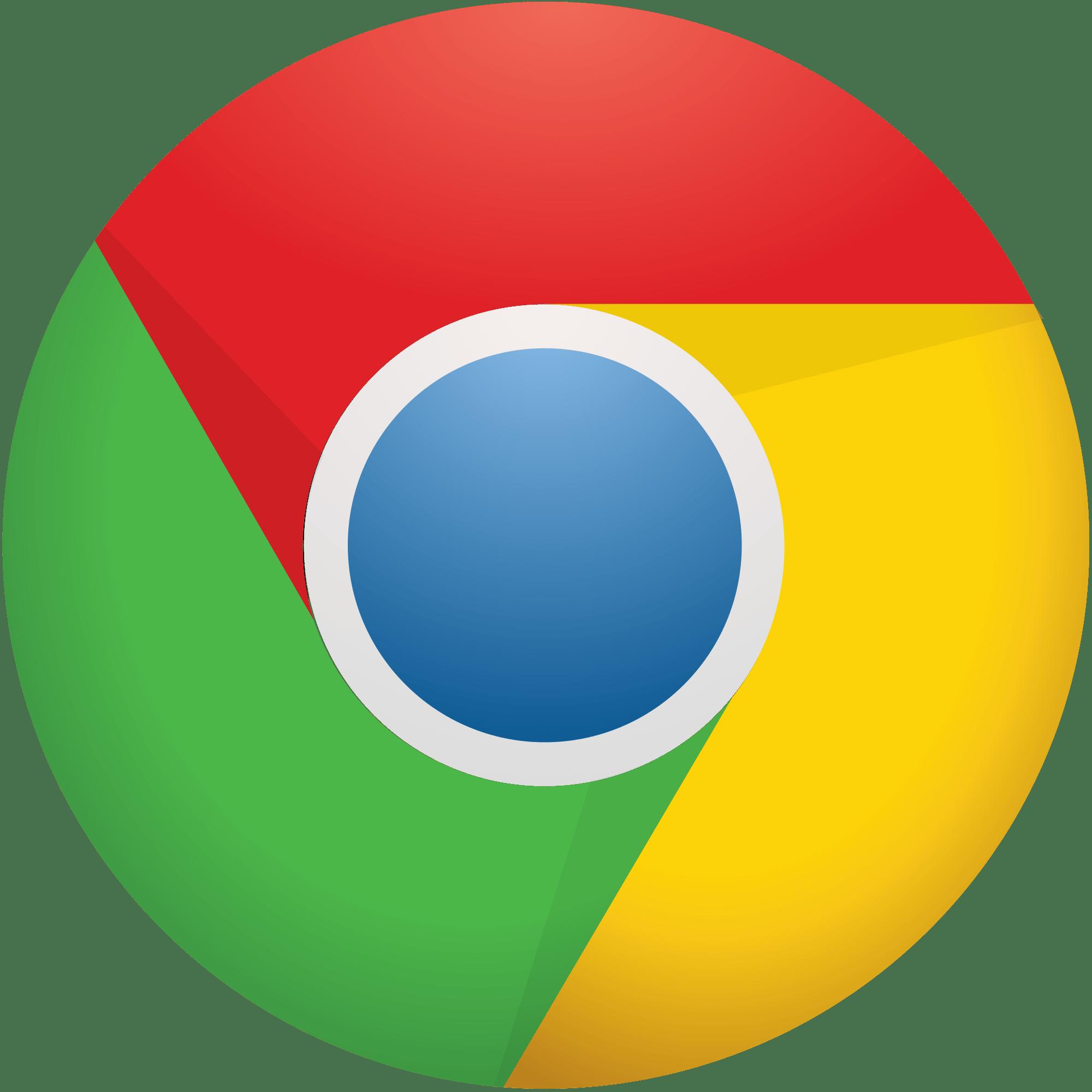 Library of google chrome symbol clipart freeuse downloads ... - Chrome Logo Transparent