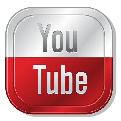Youtube metallic button  Transparent PNG  SVG vector file