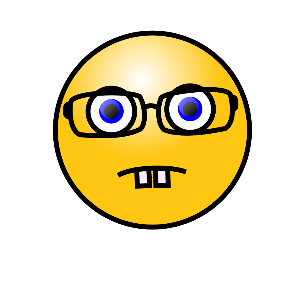 OnlineLabels Clip Art  Emoticons Nerd Face