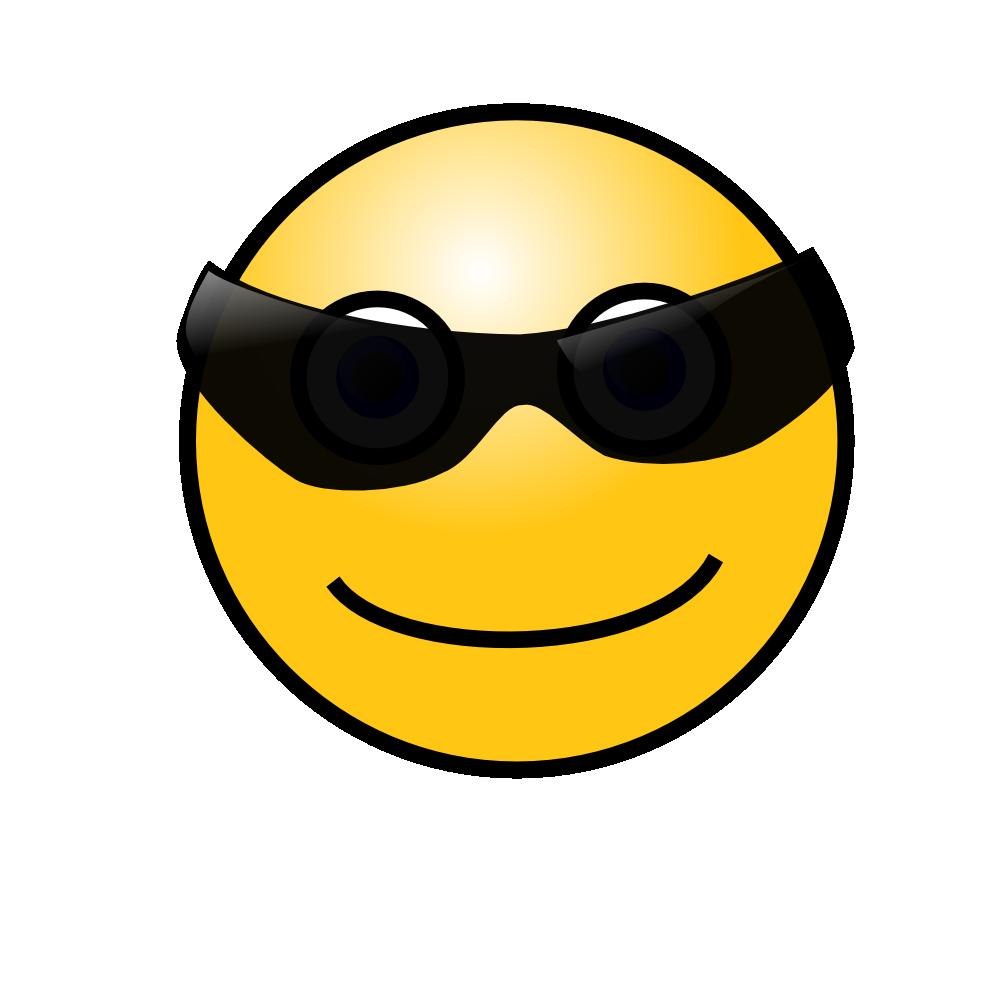 OnlineLabels Clip Art  Emoticons Cool Face