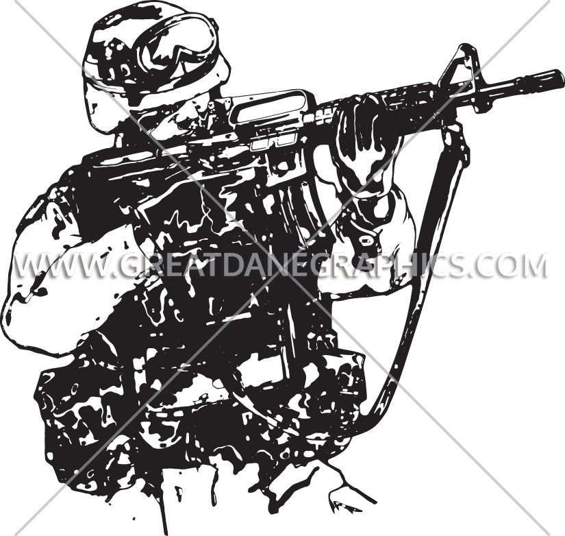 Soldiers clipart black and white Soldiers black and white
