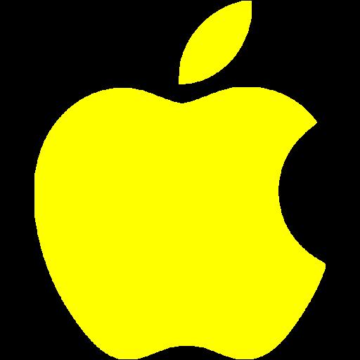 Yellow apple icon  Free yellow site logo icons