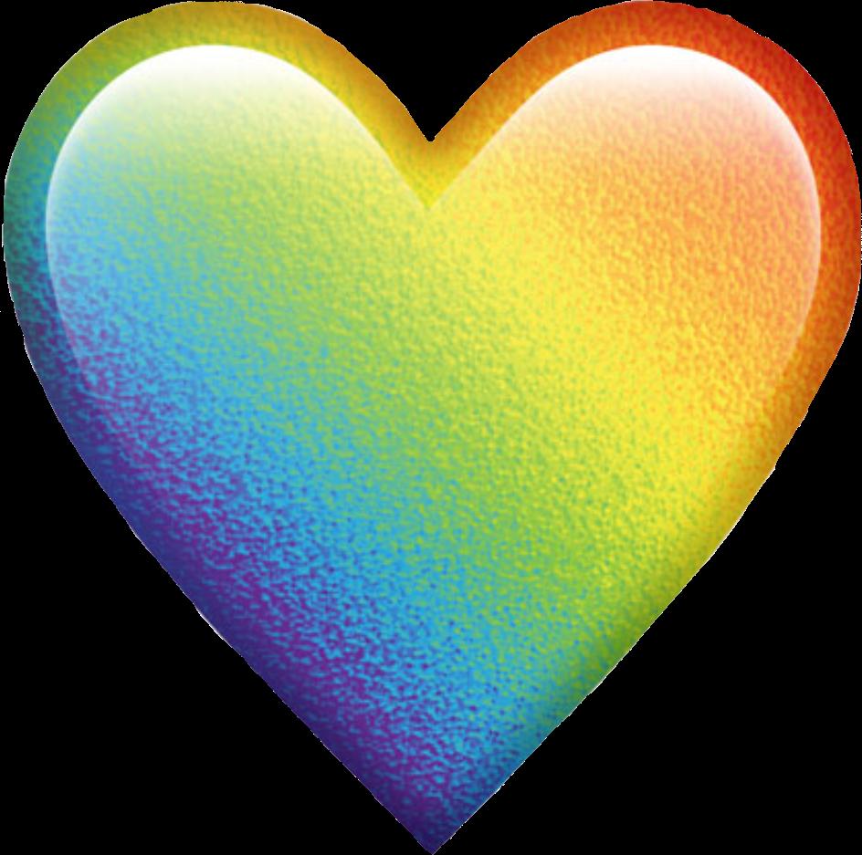 Download Rainbow Colorful Colors Emoji Heart Emojiheart