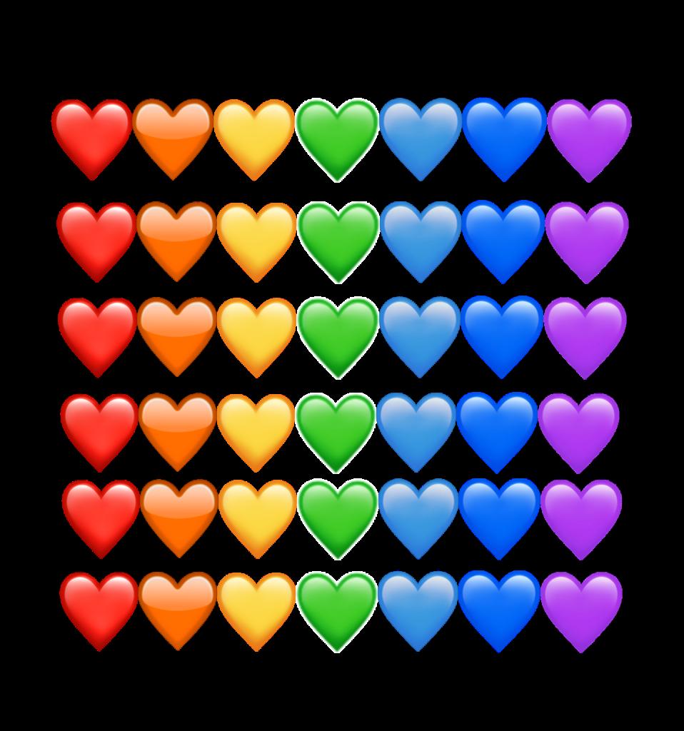 freetoedit remixit hearts emoji emojis rainbow