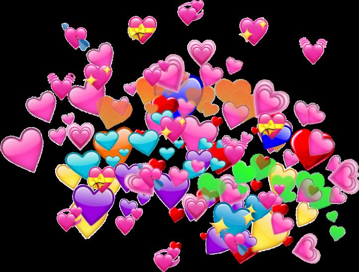 Rainbow heart emoji for your all memes - Colorful Heart Emoji