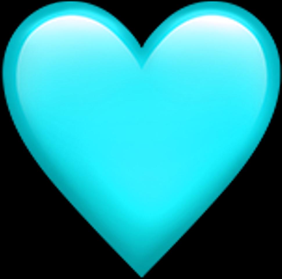 Teal Heart Emoji transparentbackground teal heart emoji