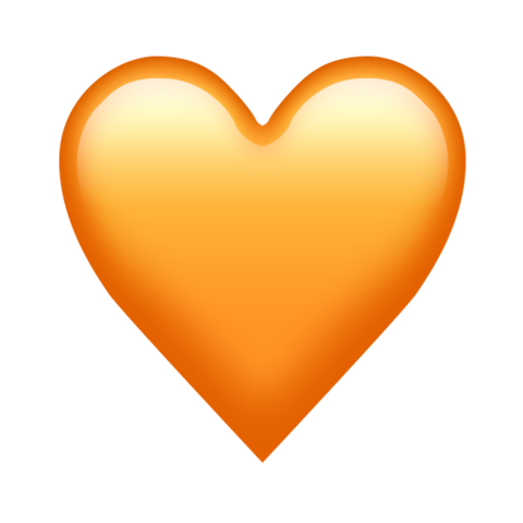 Orange heart emoji  All the new emojis just added to the