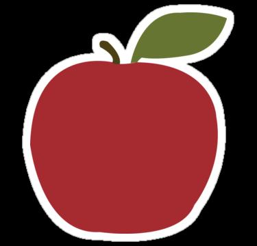 Apple Sticker by SelinsDesigns  Apple stickers Apple