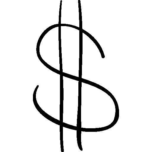 Dollar geschetst dunne teken Iconen  Gratis Download