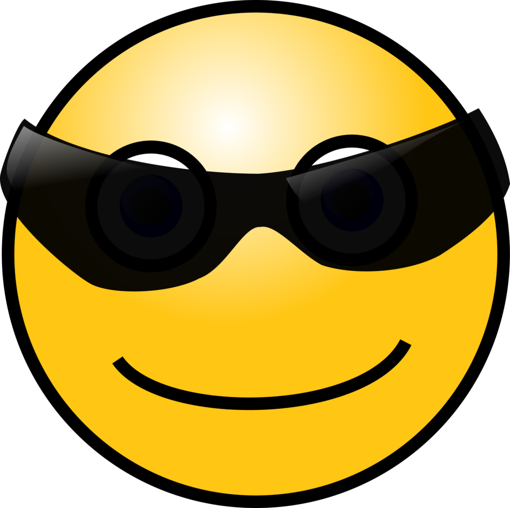 Clipart  Emoticons Cool face