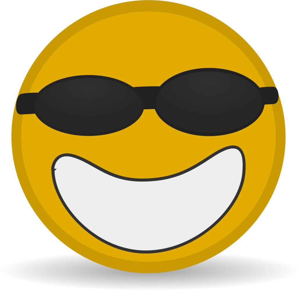 Free Cool Smiley Clip Art  Icon Face  Png Download