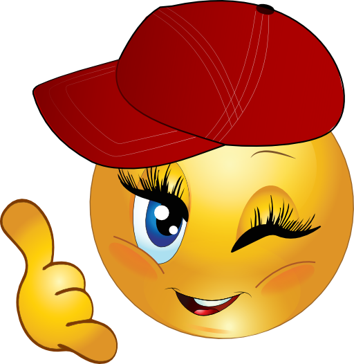 Cool Girl Call Me Smiley Emoticon Clipart  i2Clipart