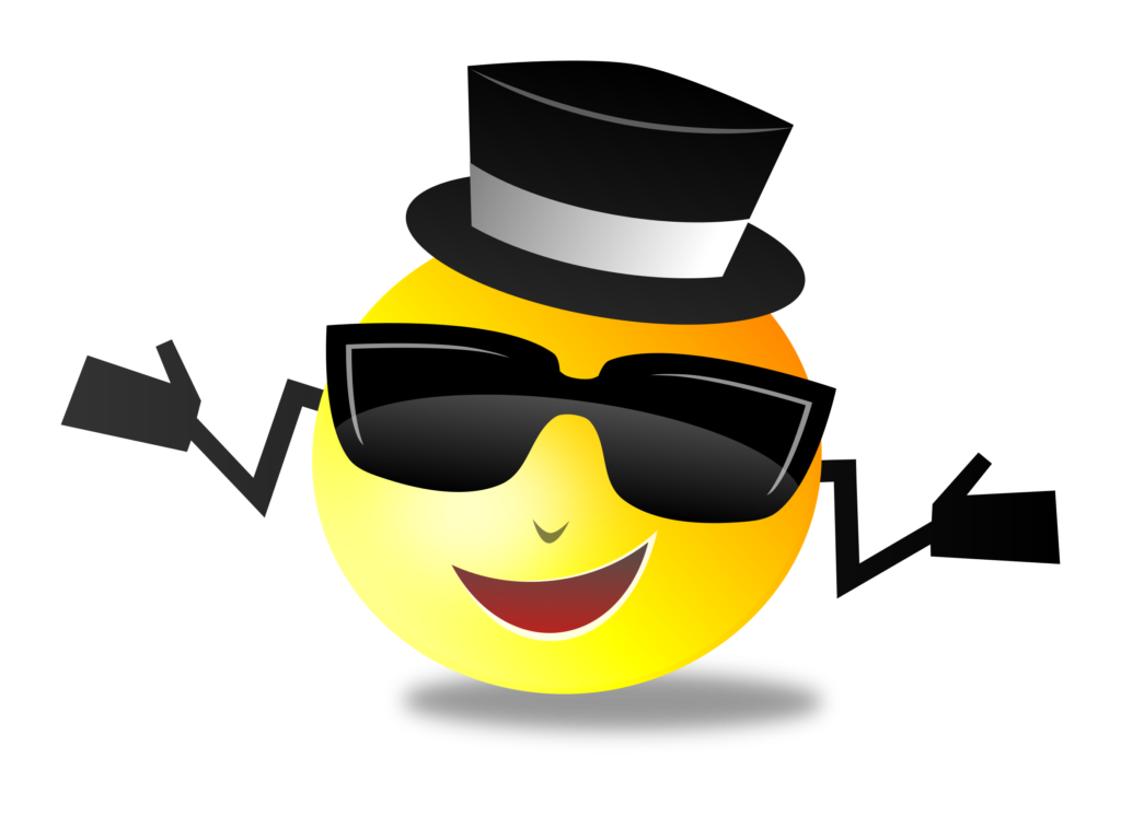 Cool Smiley vector clipart image  Free stock photo