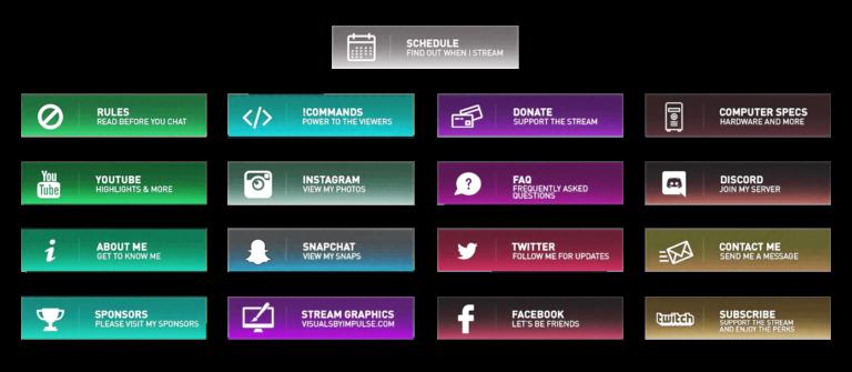 Twitch Overlays  Panels  Free Twitch
