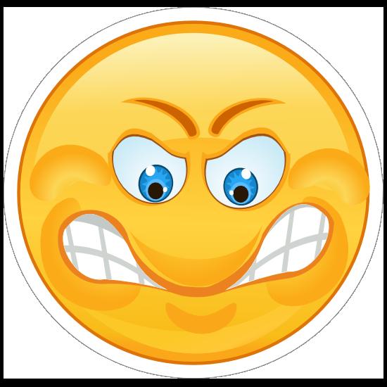 Crazy Angry Grinding Teeth Emoji Sticker