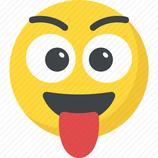 Crazy face emoji naughty smiley stuck out tongue icon