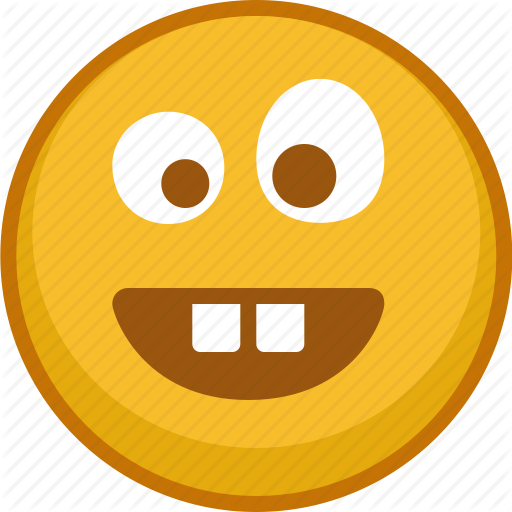 Crazy emoji emoticon emoticons emotion smile teeth icon