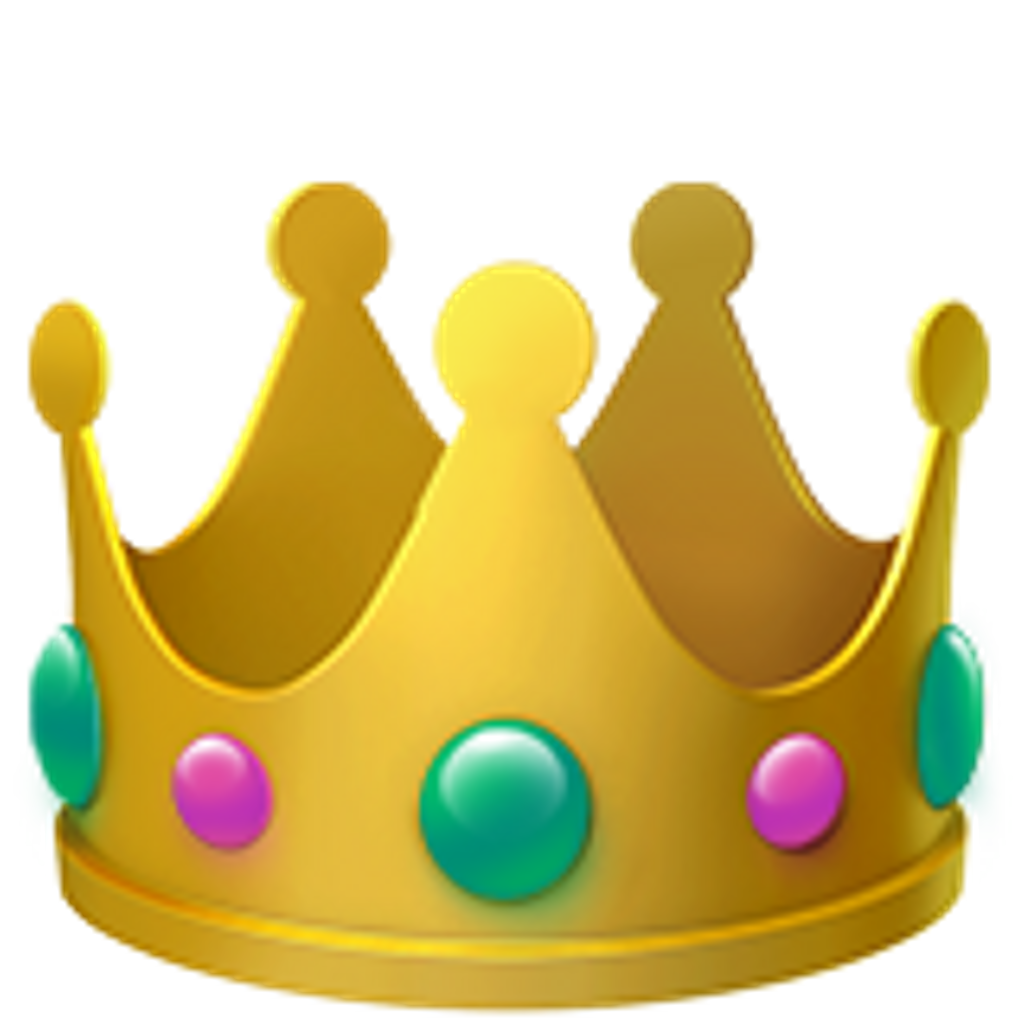 Library of crown emoji clip art freeuse library png files