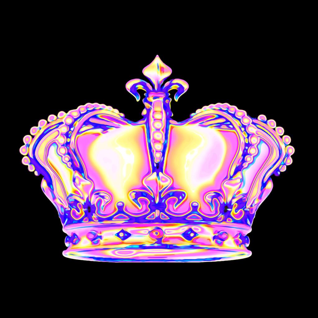 crown queen royalty aesthetic color dream emoji glitter