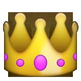 Crown Emoji on Apple iOS 100