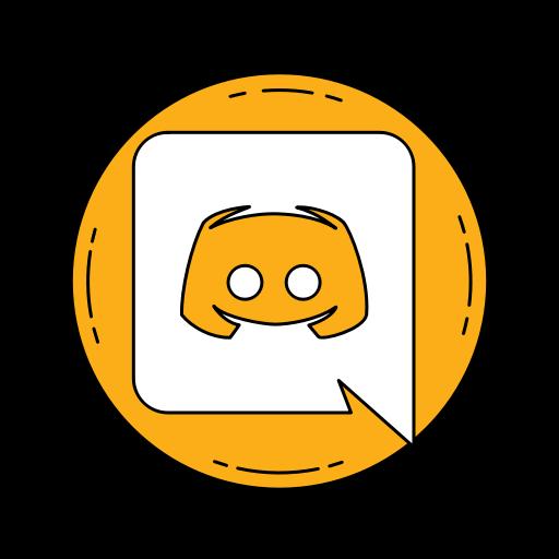 Communication discord logo media orange social icon