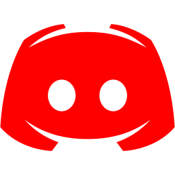 Red discord 2 icon  Free red site logo icons