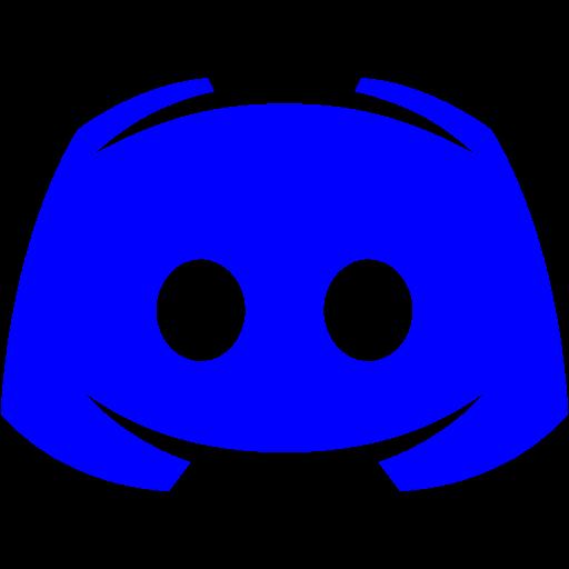 Blue discord 2 icon  Free blue site logo icons