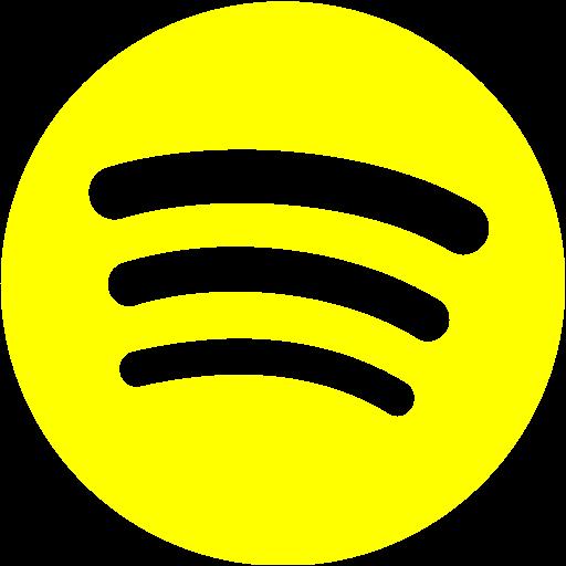 Yellow spotify icon  Free yellow site logo icons