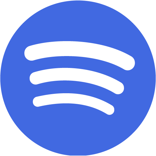 Royal blue spotify icon  Free royal blue site logo icons