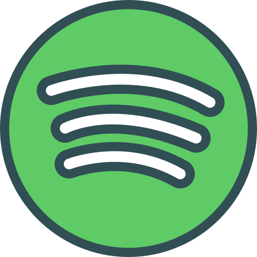 Brand logo network social spotify icon