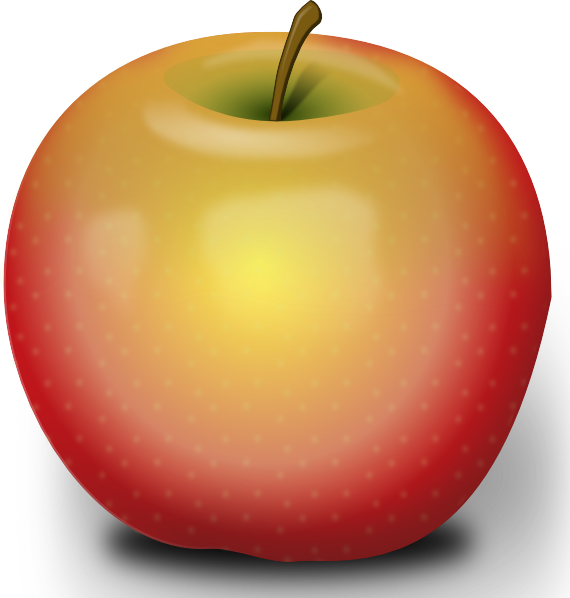 Photorealistic Red Apple clip art 115473 Free SVG
