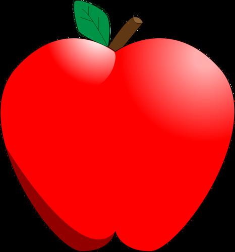 Cartoon red apple vector clip art  Free SVG