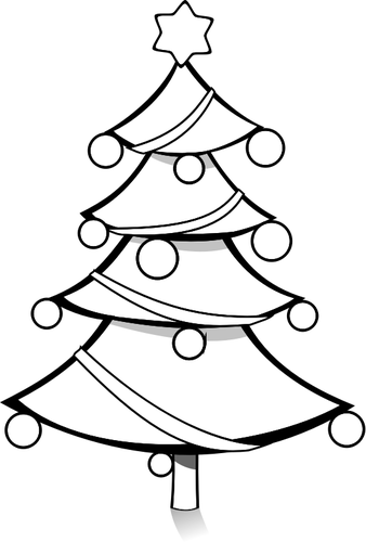 Choinka z Boże Narodzenie bale ilustracji wektorowych