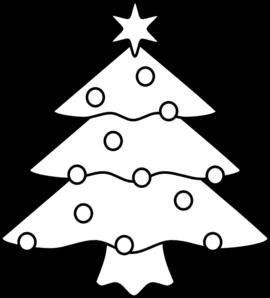Christmas Tree Clip Art at Clker.com - vector clip art ... - Cute Christmas Tree Clip Art Black and White
