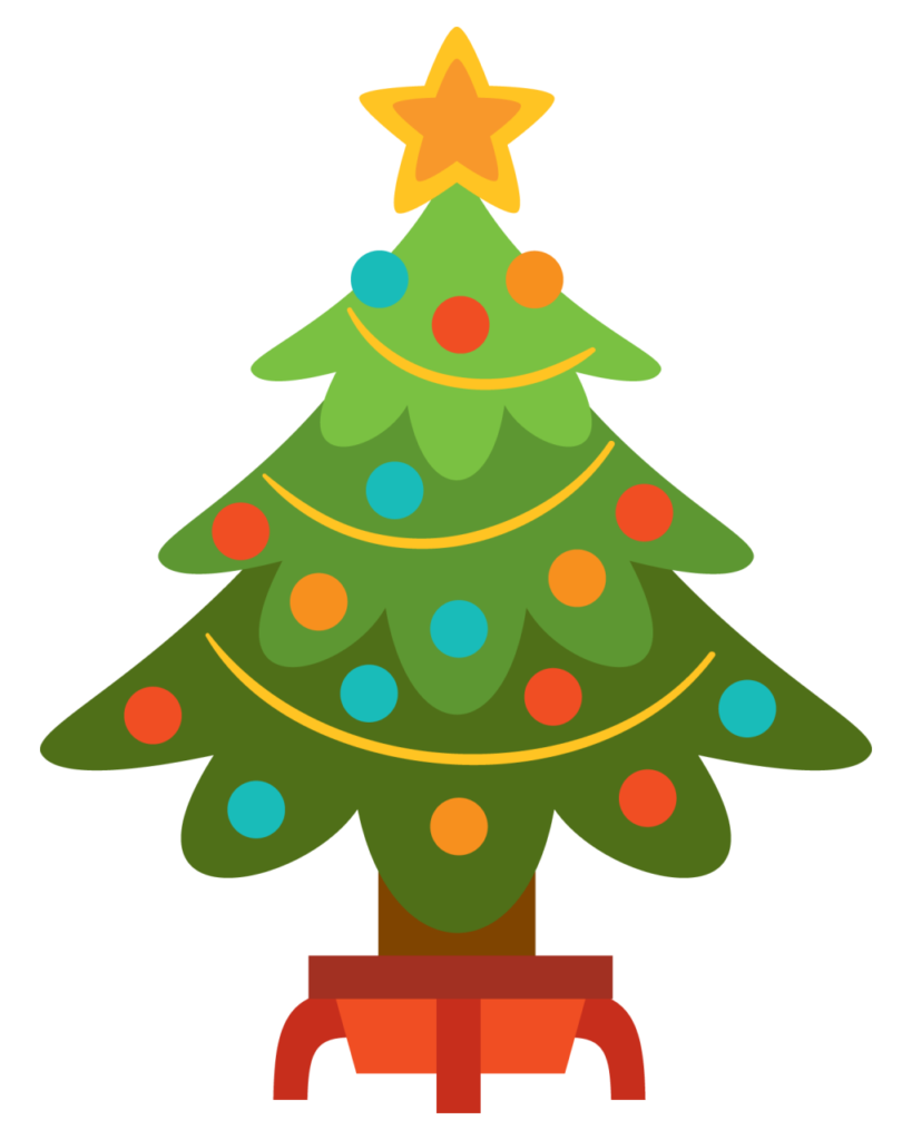Christmas Tree Clipart Black And White  Free download on