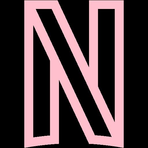 Pink netflix icon  Free pink site logo icons