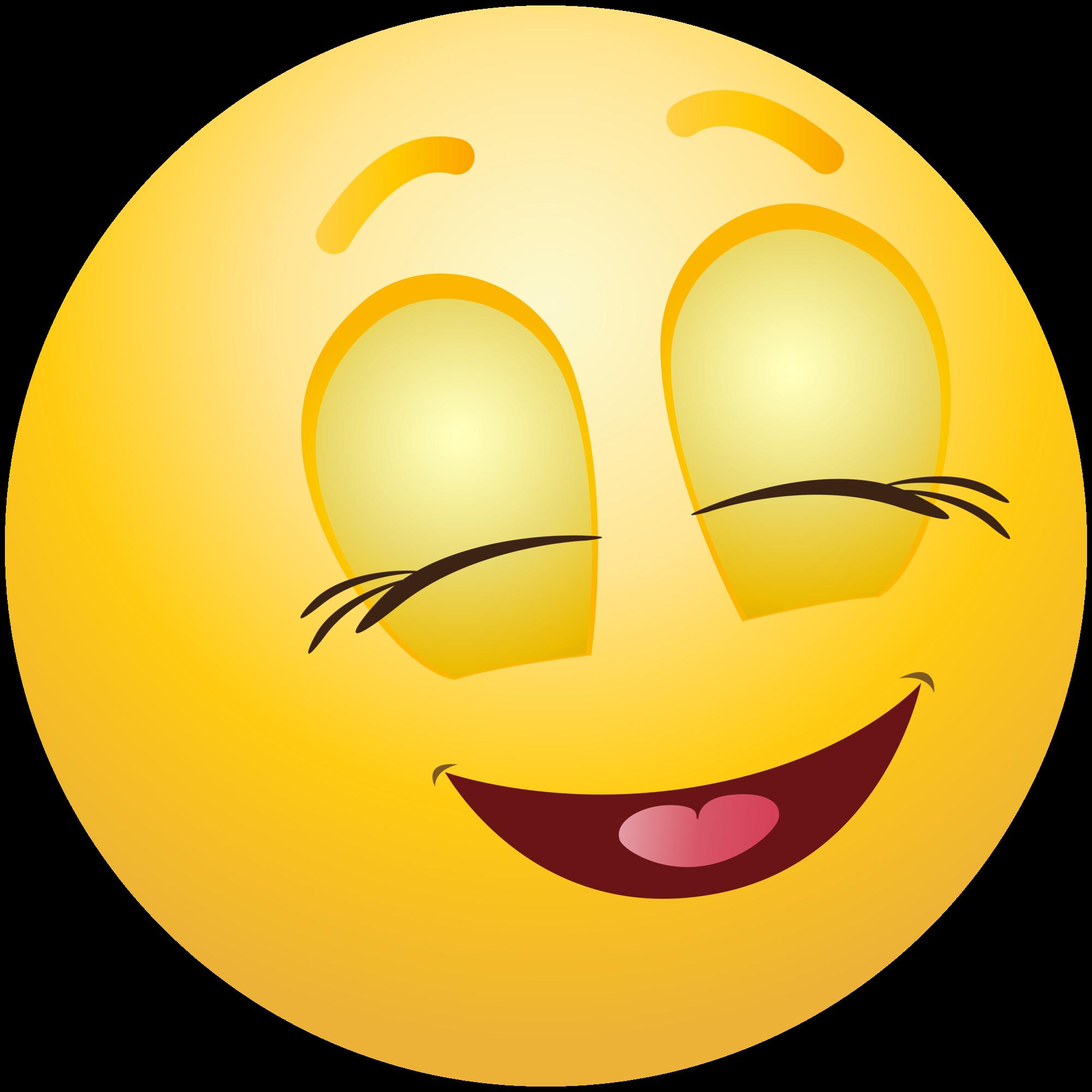 Pleased Emoticon Emoji Clipart Info - Cute Smiley Face Clip Art