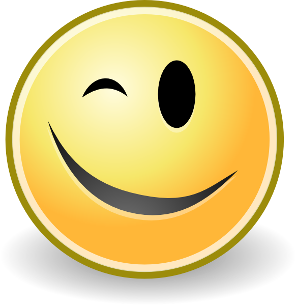Smiley face wink thumbs up free clipart images image 20829