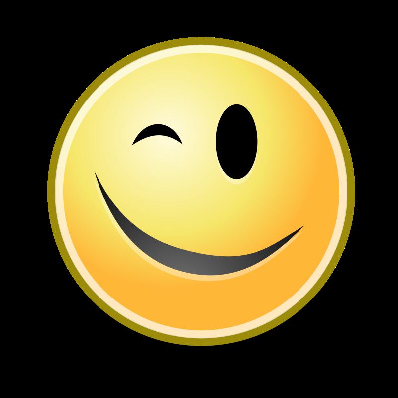 Winking Smiley Face Clip Art  Clipartsco