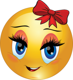 Cute Girl Smiley Emoticon Clipart  i2Clipart  Royalty